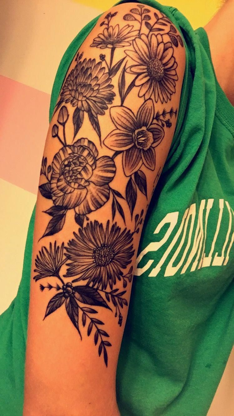 half sleeve tattoos pinterest Halfsleevetattoos Sleeve