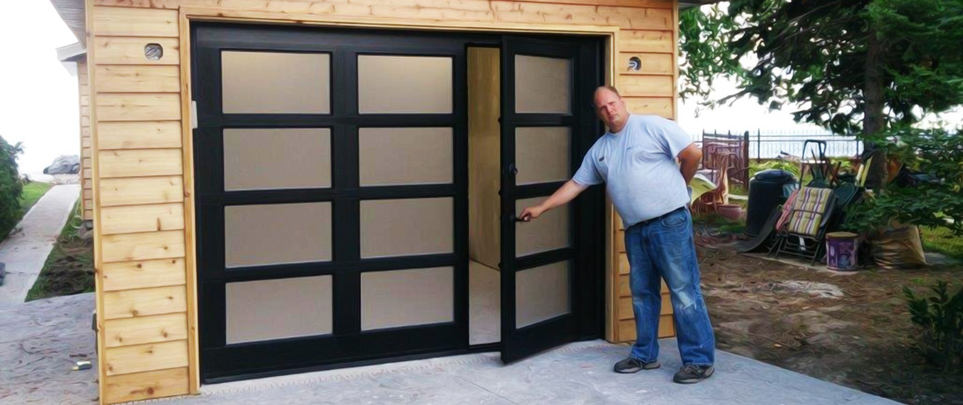 Walkthru Garage Doors Garage Door Design Garage Doors Glass Garage Door