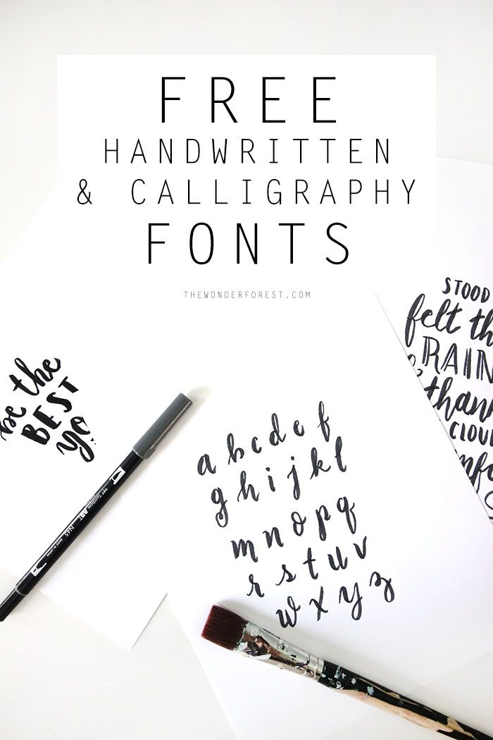Free handwritten calligraphy fonts wonder forest