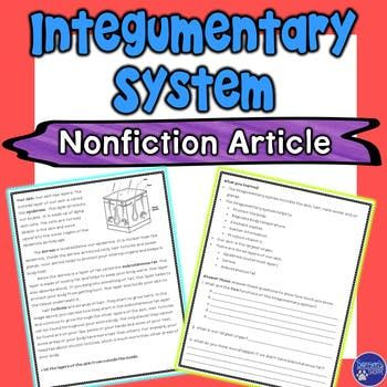 Integumentary System Nonfiction Article | CrossCurricular Literacy 4 ...