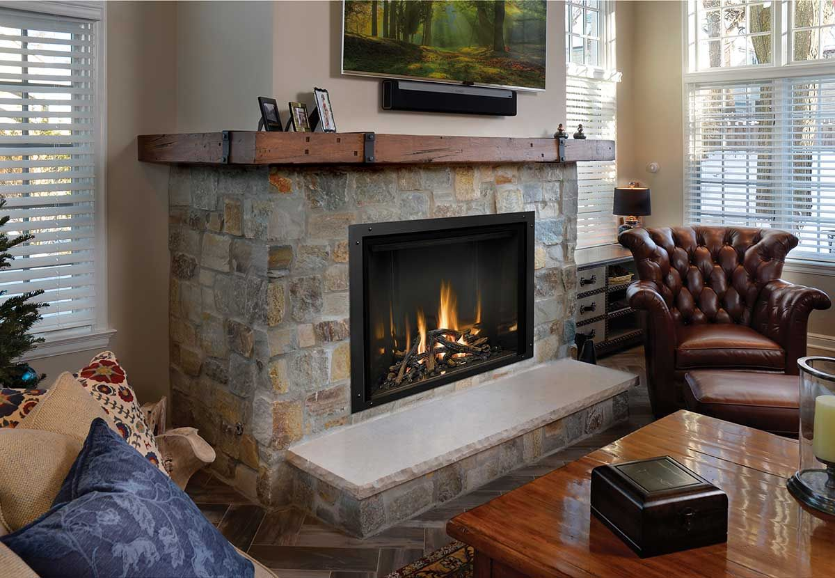 Fireplaces are often a key design element and central