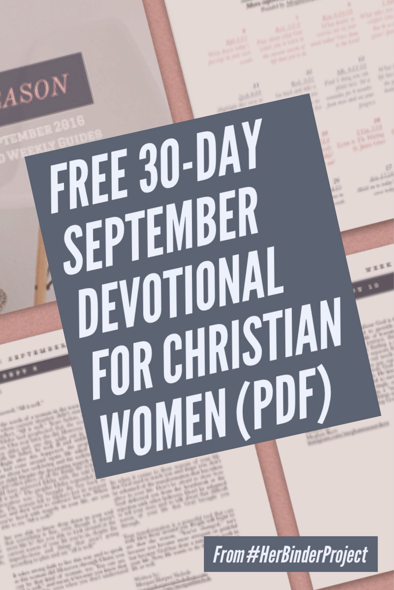 "FREE 30 day devotional for September called ""In Every Season"" - for women - bible  study small group free materials resources youth Christian Christianity ..."