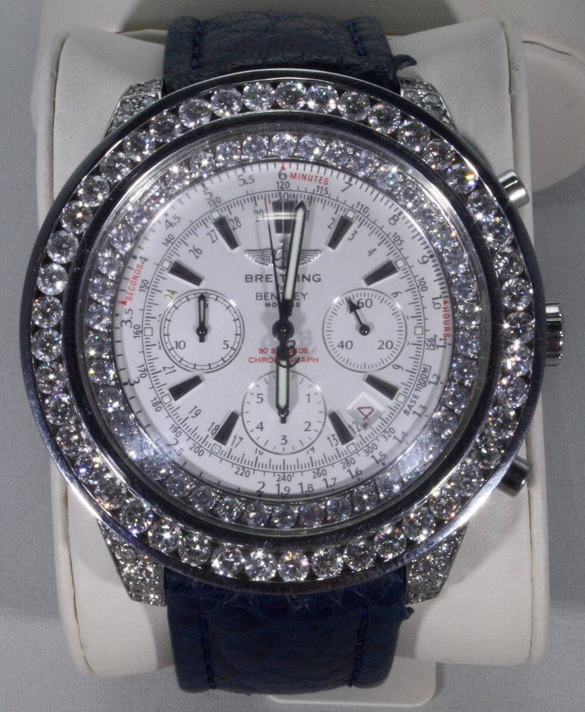 """Iced Out """"Breitling Bentley"""" Special Edition Watch With"""
