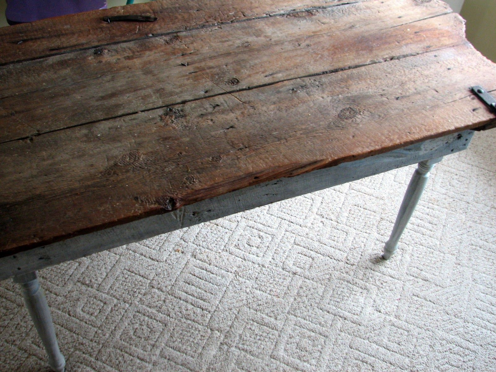 Old Barn Door Recycled Into Kitchen Tablecontributed By Mason Bay Hinges And Latches Adorn My Table An Attached To Some Leg