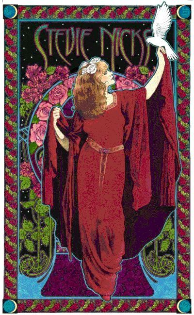Stevie Nicks Concert Posters Stevie Nicks Art Nouveau Poster