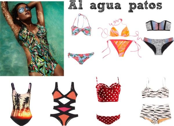 """swim"" by valeriabogota on Polyvore"