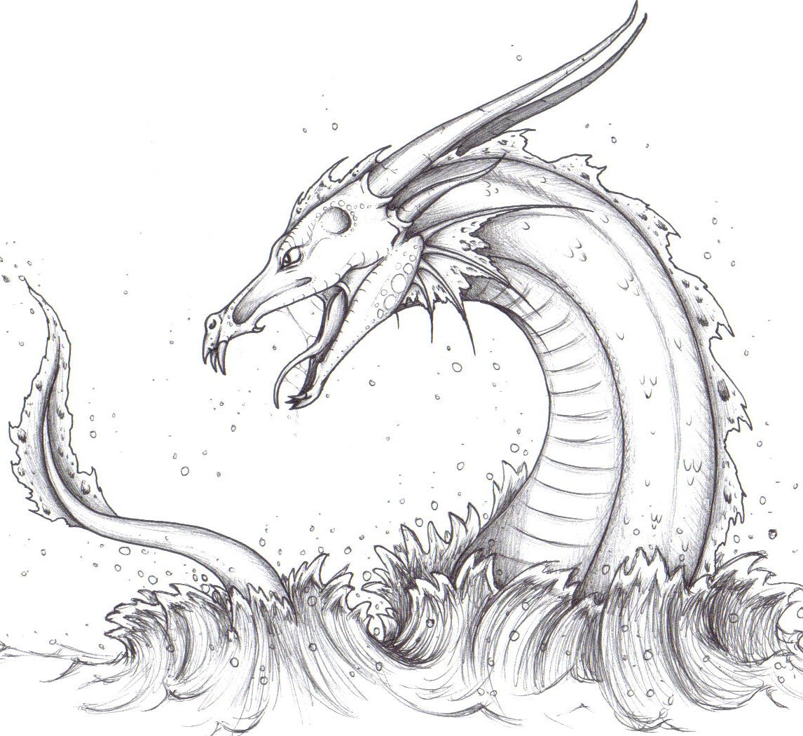 Uncategorized How To Draw A Sea Creature sea serpent drawing google search loch ness monster tattoo search