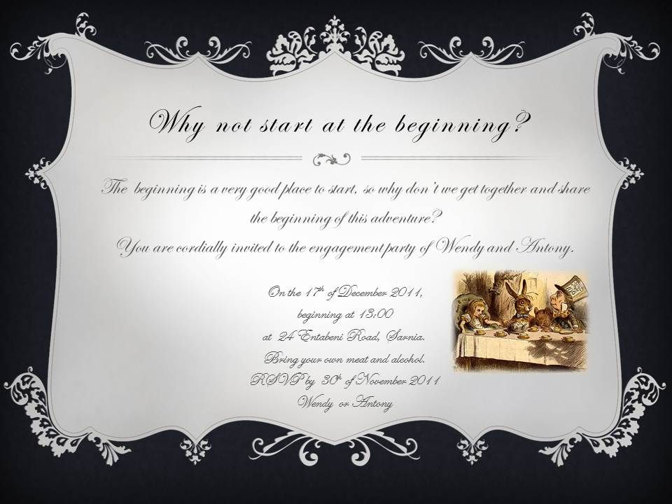 The engagement party invitation that we made :)