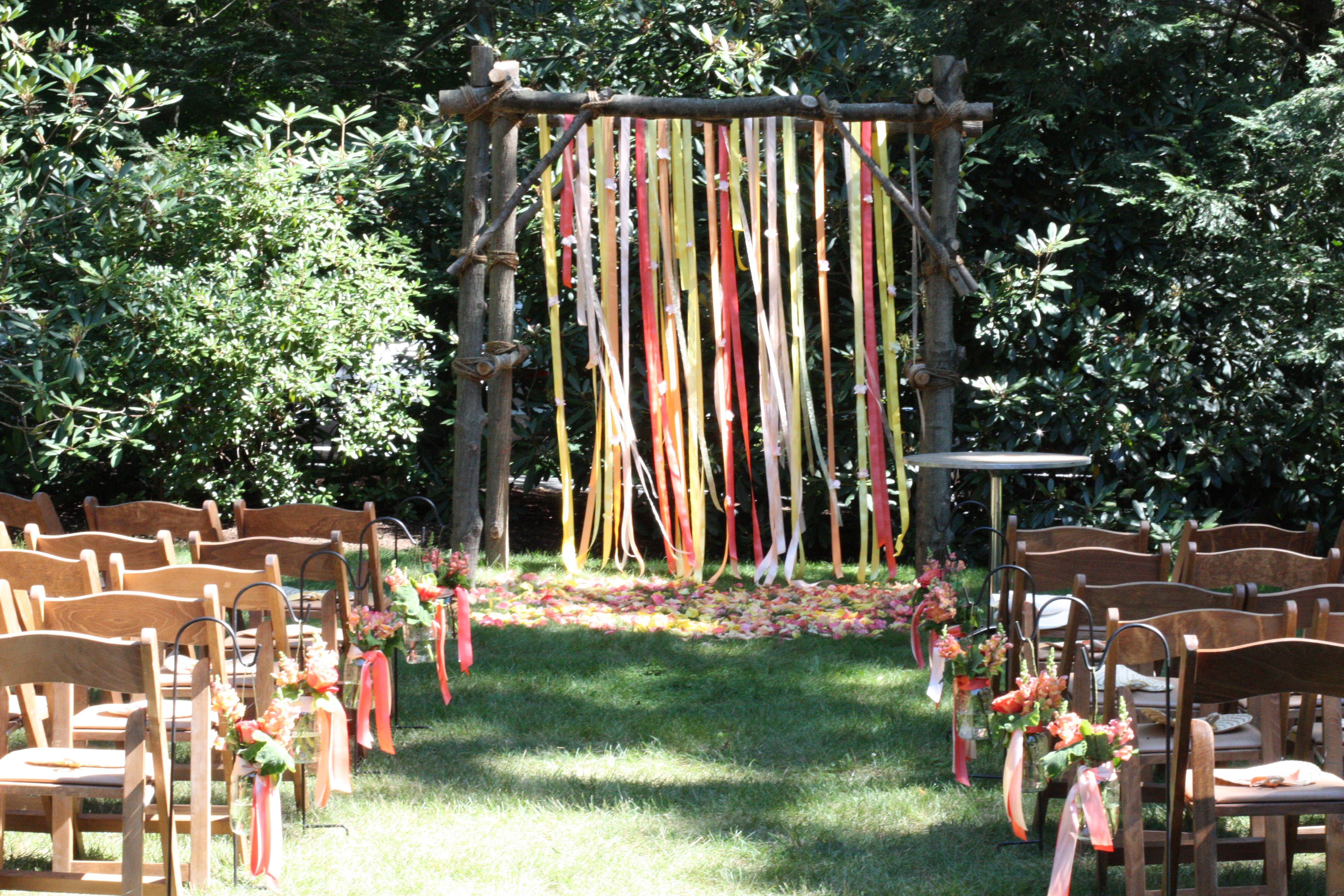 rustic backyard arbor home ideas pinterest outdoor ceremony