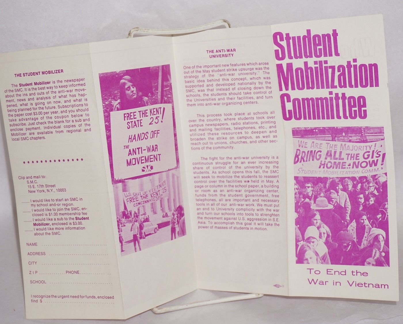 Student Mobilization Committee To End The War In Vietnam