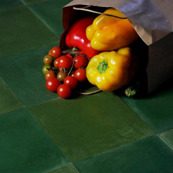 Terrazzo VTS.A20 is a dark green Terrazzo Concrete tile from Eco Friendly Tiles. Made with up to 80% waste recycled from the marble and stone industry.
