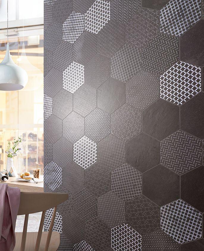 tolle highlights setzten mit den dekorfliesen der serie slate von steuler. Black Bedroom Furniture Sets. Home Design Ideas