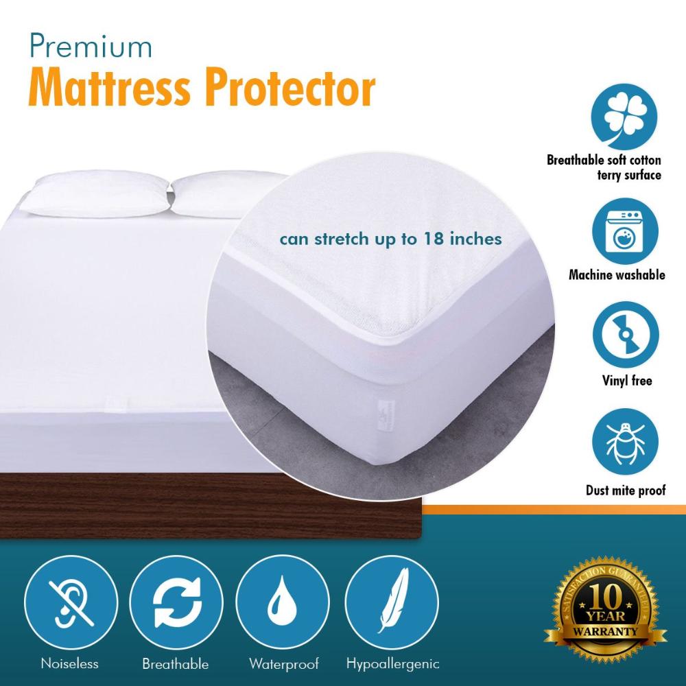 Waterproof Mattress Protector Sale Ease Bedding With Style With Images Mattress Protector Waterproof Mattress Hypoallergenic Mattress