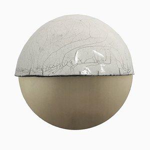 Raku-Yaki Applique D Wall Light by Emmanuelle Simon