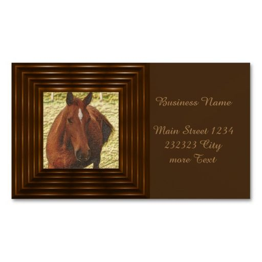 Painted Horse Double Sided Standard Business Cards Pack Of 100