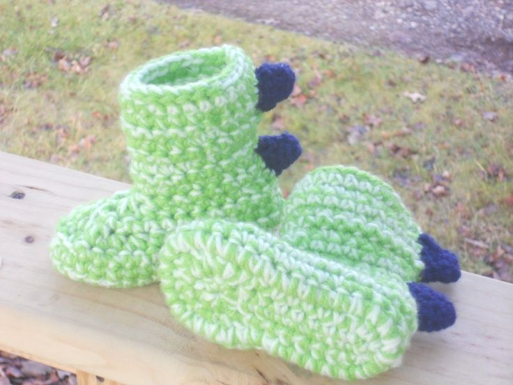 Image result for dinosaurs slippers free crochet pattern | crochet ...