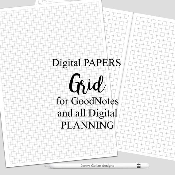 Digital Planner Pages for iPad GoodNotes Grid Papers | Pinterest ...