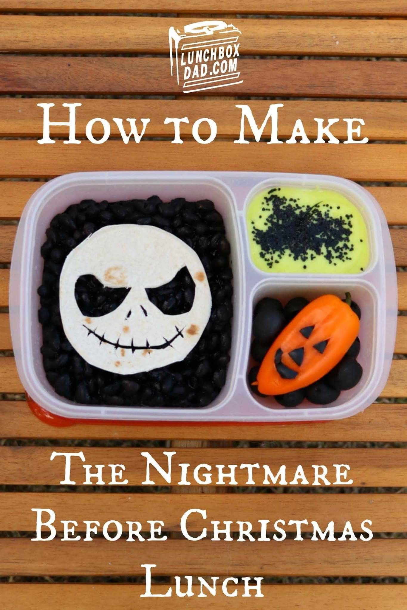 Pin by Chantal Wolf on BENTO!   Lunch box, Nightmare before christmas, Lunch