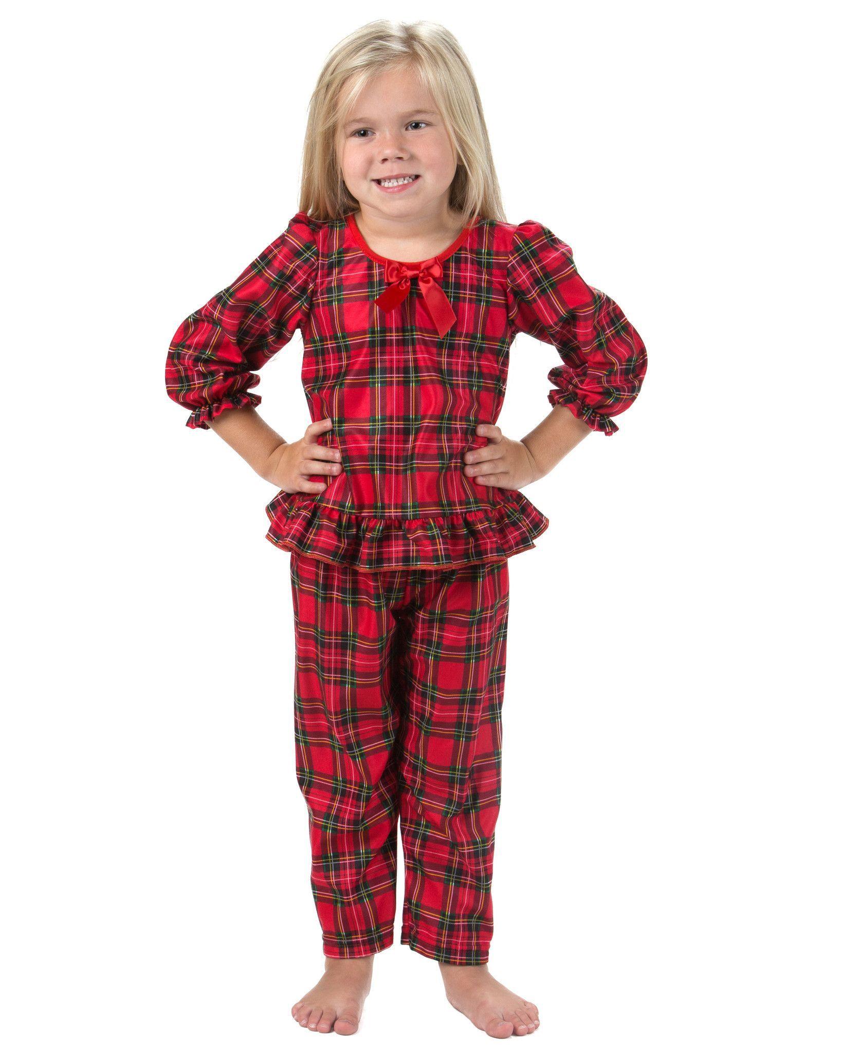 5de996b8bf05 Holiday Tartan Plaid Long Sleeve Pajama