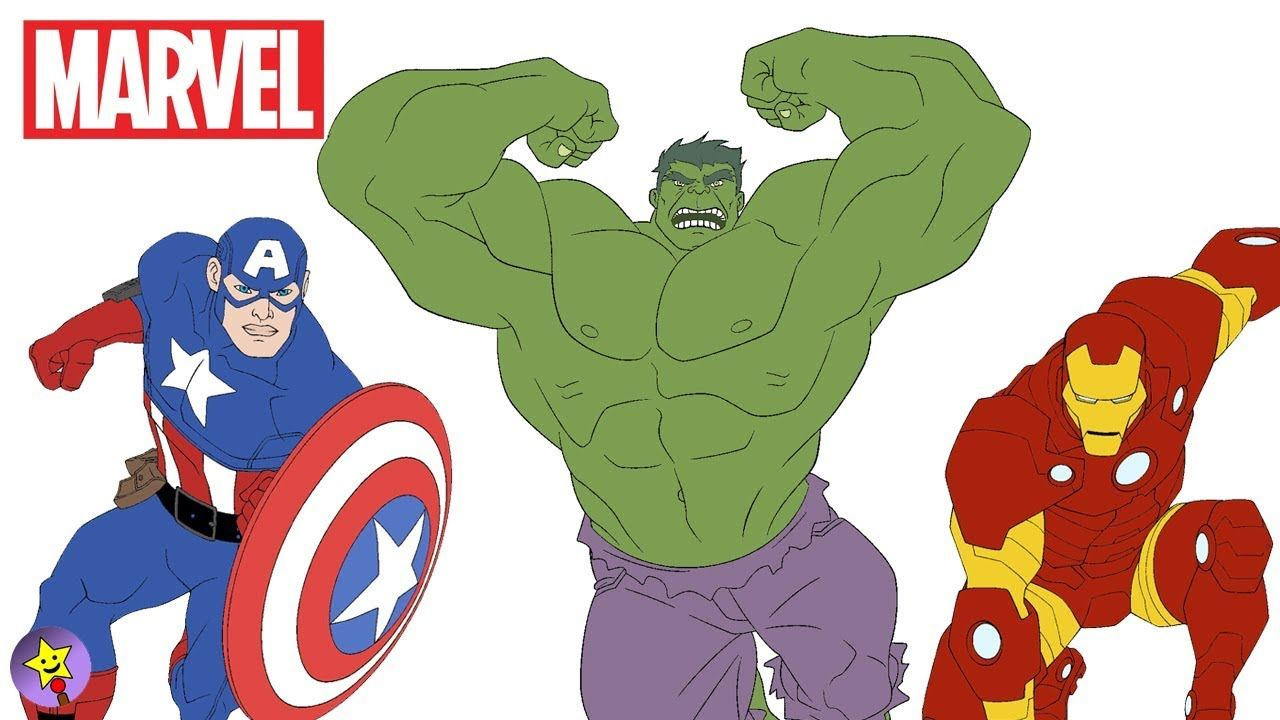 A Compilation Of Marvel Avengers Digital Coloring Page Videos The Hulk Coloring Book Page Captain Ameri Avengers Coloring Marvel Superheroes Superhero Coloring