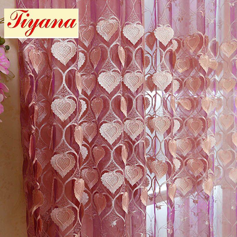 Embossed embroidery heart flower pattern for bedroom living room ...