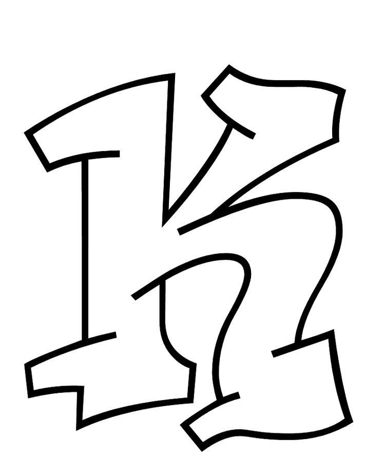 Alphabet Coloring Pages Free Letter K Graffiti Lettering Graffiti Lettering Fonts Alphabet Coloring Pages