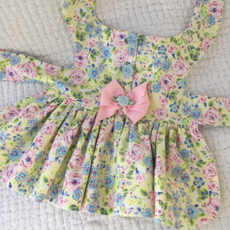 Flannel Night Gown Dog Dress Dog or Cat Harness Custom Made