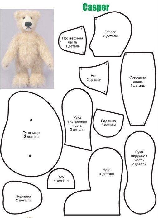 Patrones de osos de peluche | PELUCHES & FIELTRO | Pinterest | Bären ...