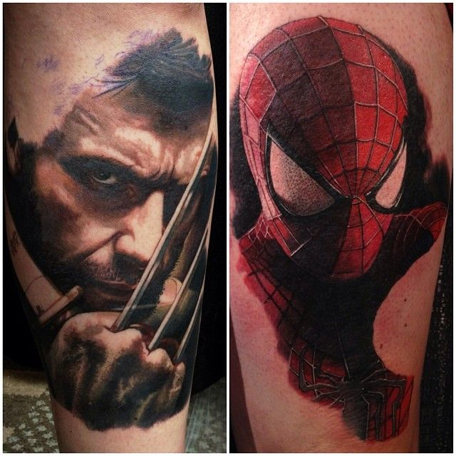 Marvel X Men Spiderman Captain America Tat Pinterest