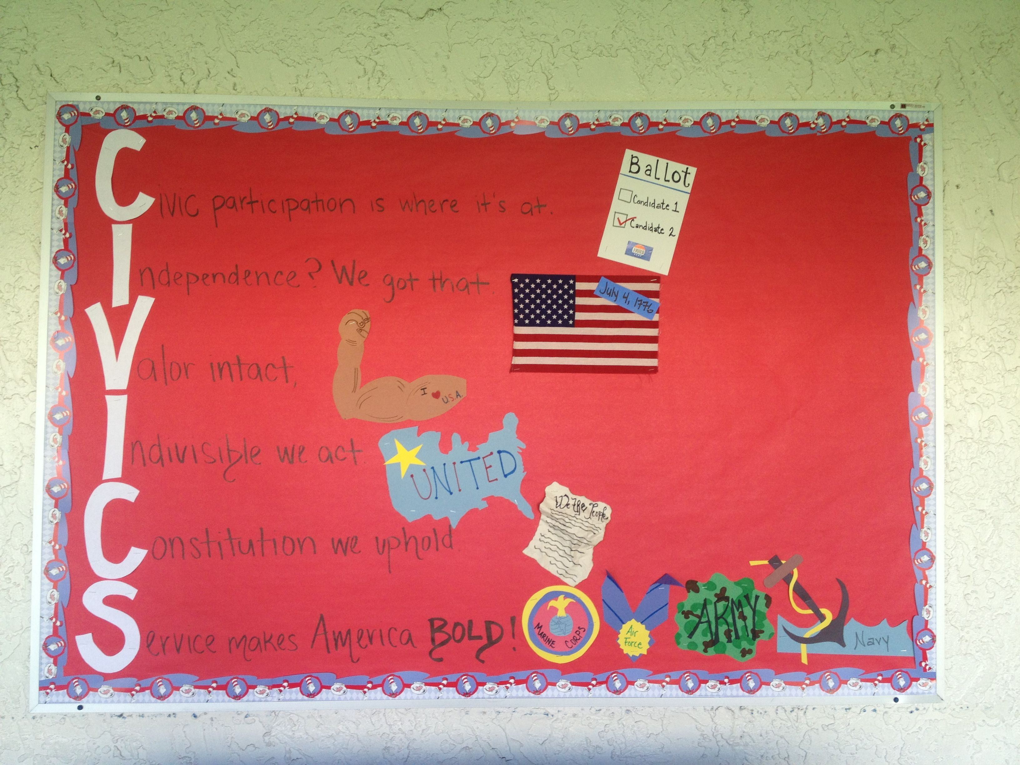 Civics Acrostic Poem Bulletin Board The Boarder Is Dr