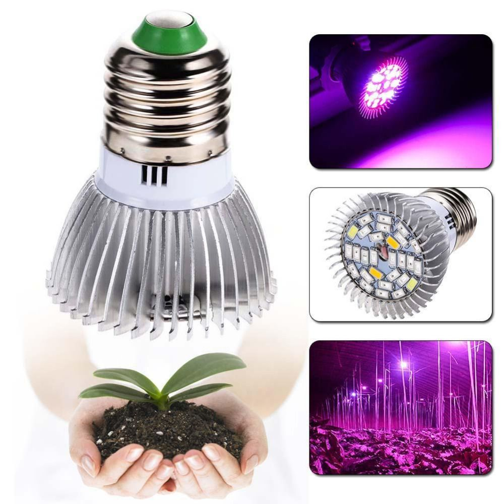 28w Full Spectrum E27 Led Grow Light Growing Lamp Light Bulb For Flower Plant Fruits Led Lights Gr Grow Lights For Plants Led Grow Light Bulbs Grow Light Bulbs