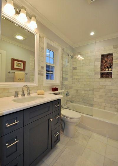 Transitional Bathroom By Ccforteza Transitional Bathroom Bathrooms Remodel Guest Bathroom Remodel
