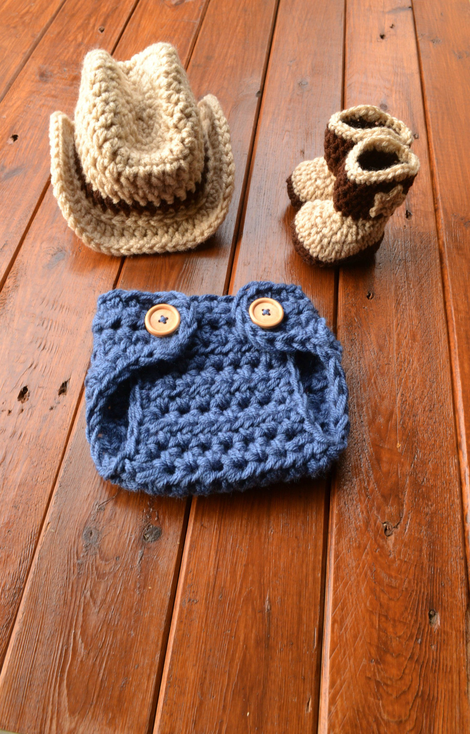 b2e00912 Excited to share the latest addition to my #etsy shop: Crochet Baby Cowboy  Outfit