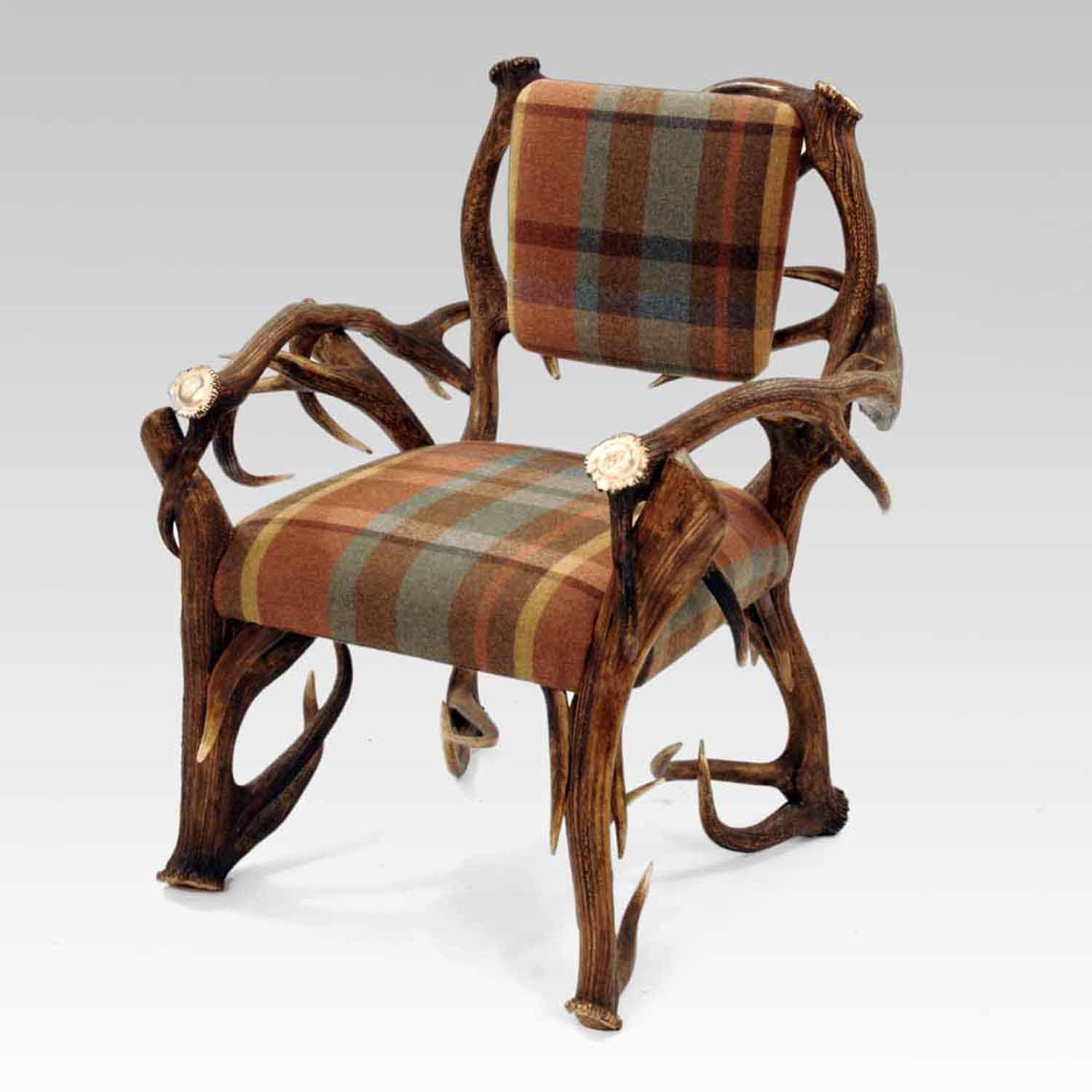 A chair made from antlers