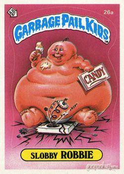 26a Slobby ROBBIE 1985 UK Garbage Pail Kids 1st Series Card