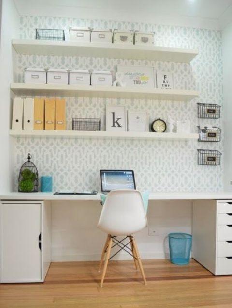 Picture Of Lack Floating Shelves For Home Office Storage Med Bilder Kontorsinspiration Dekorera