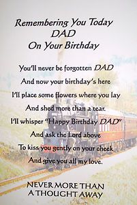 Birthday Memorial Grave Card Dad Grandad Brother Son With Holders Wedding Stuff