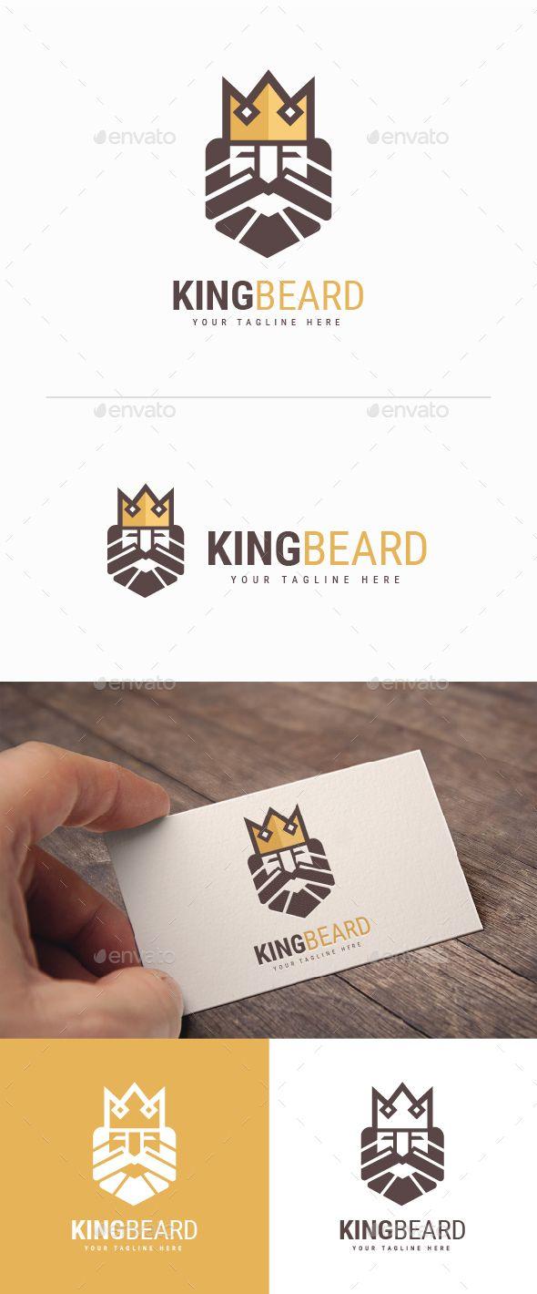 King Beard Logo   Beard logo, Logo templates and Ai illustrator