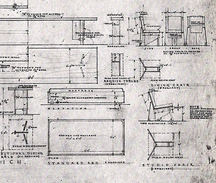 Dining Room Table And Chair. Plans. Goetsch Winckler House. Okemos,  Michagan · Frank Lloyd WrightArchitectural ...