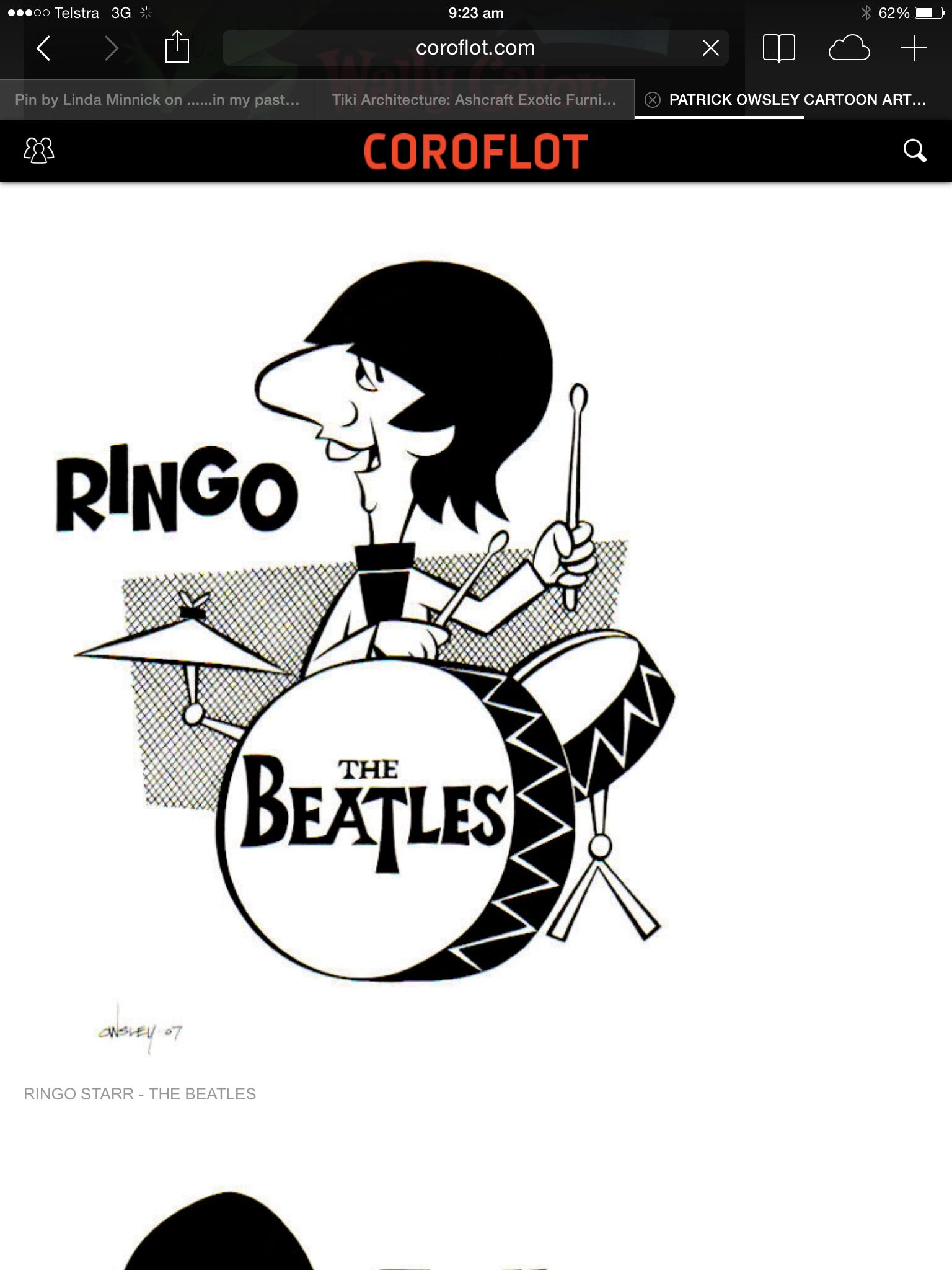The Beatles Cartoon Ringo Starr
