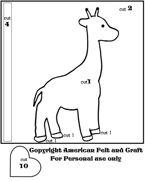 DIY Giraffe Tic Tac Toe  Template  And Toe