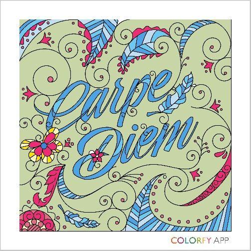 Carpe Diem Coloring Books Colorfy Colorfy App