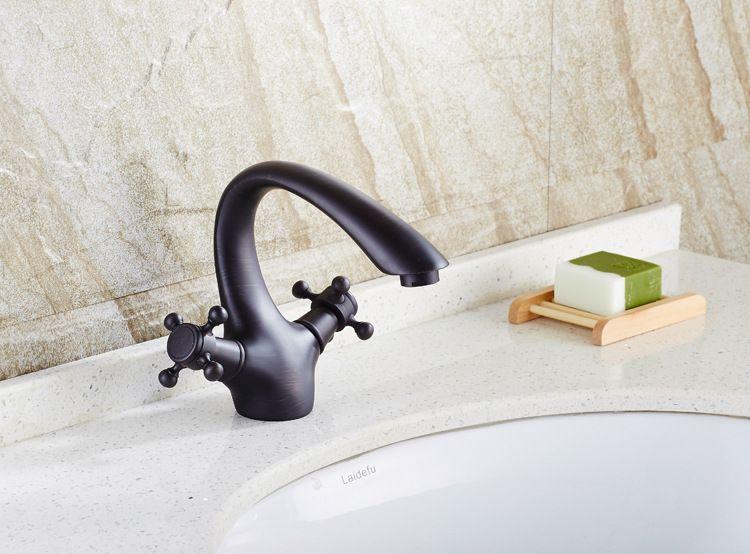 Manufacturers wholesale Free shipping Black bronze Wash basin faucet ...