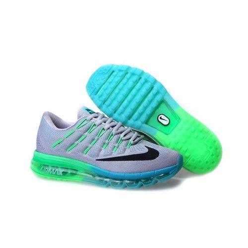 super popular a2b69 d7672 Günstig Nike Air Max 2016 Herren Schuhe Grau Grün Outlet