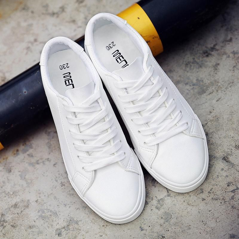 2018 new spring and summer tenis feminino white shoes woman flat PU Leather Female  shoes Board casual women shoes sneakers 3c445d7fdcfc
