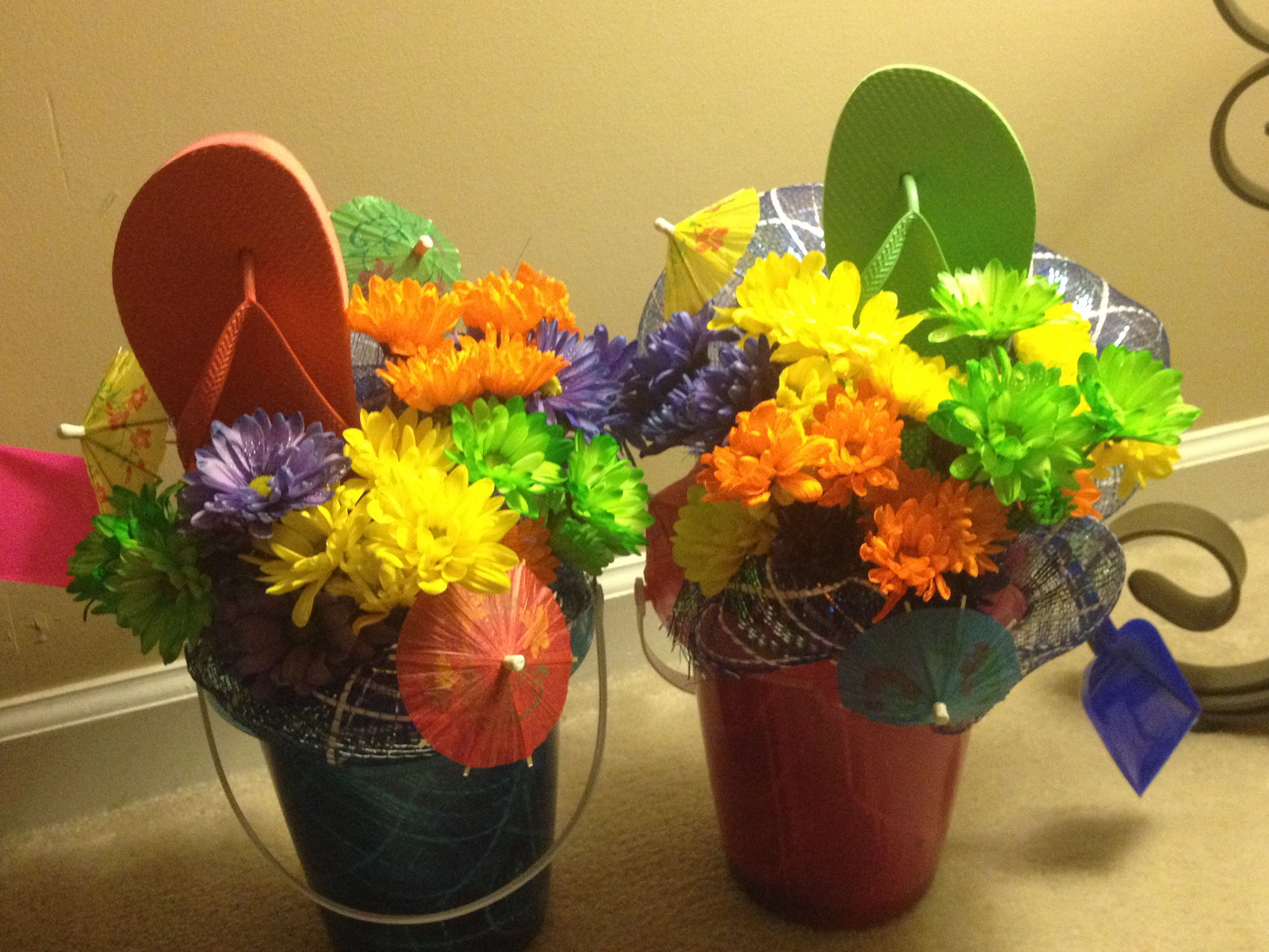 Beach bucket buds for retirement party fun with