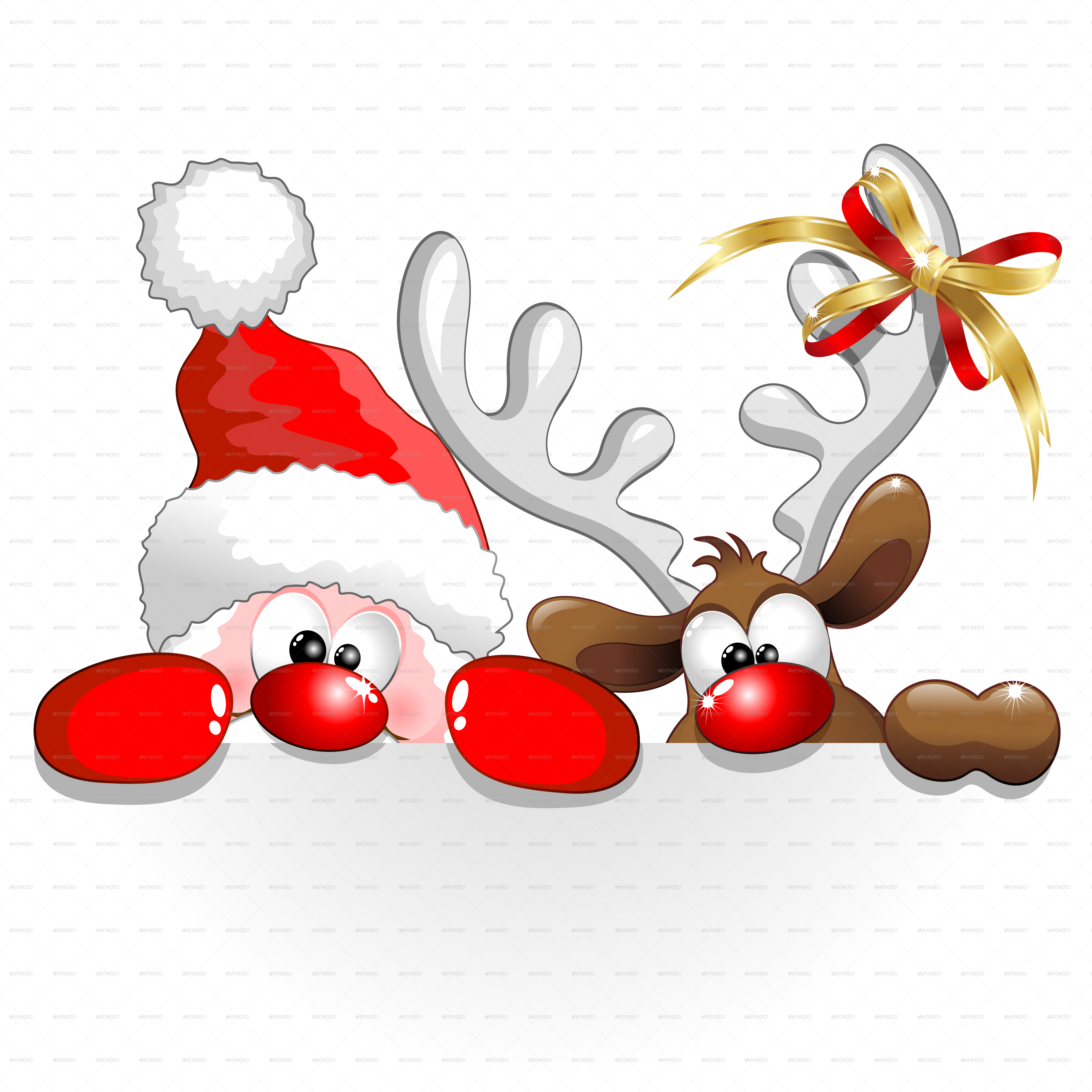Uncategorized Santa And Reindeer christmas santa and reindeer cartoon window decoration cartoon