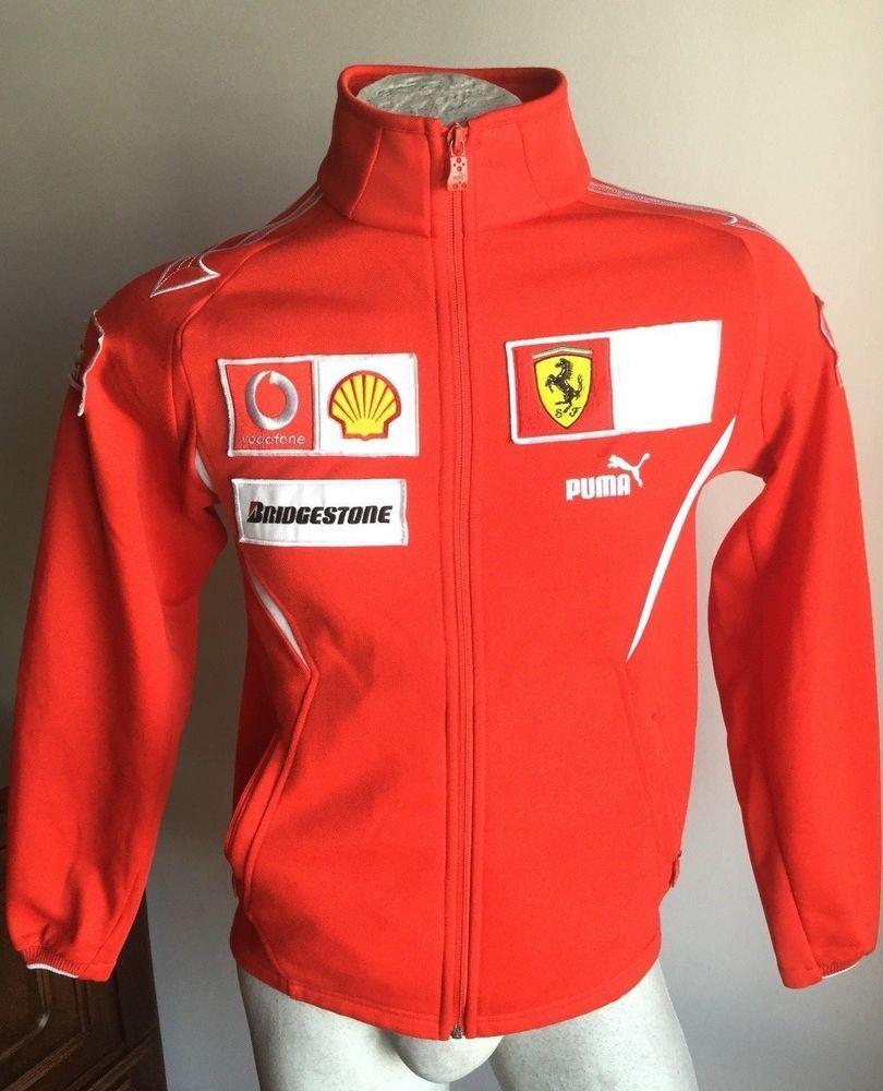 Maglia Ferrari corse puma vodafone bridgestone jacket jersey ...