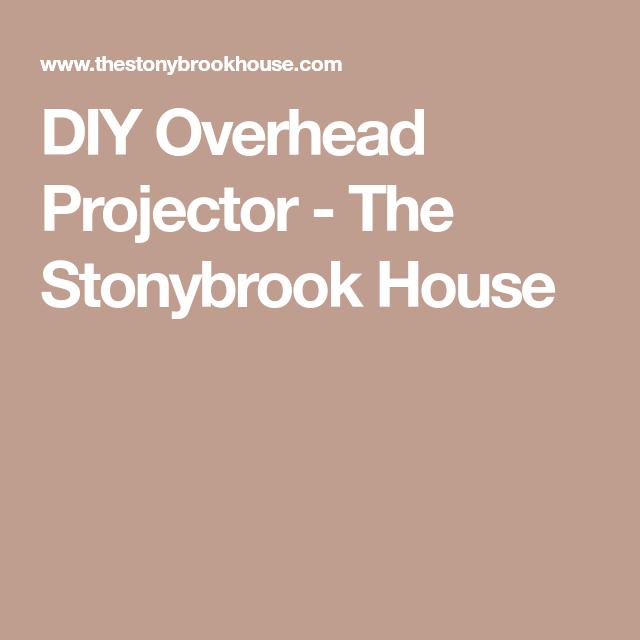 DIY Overhead Projector | Overhead projector, Diy projector ...