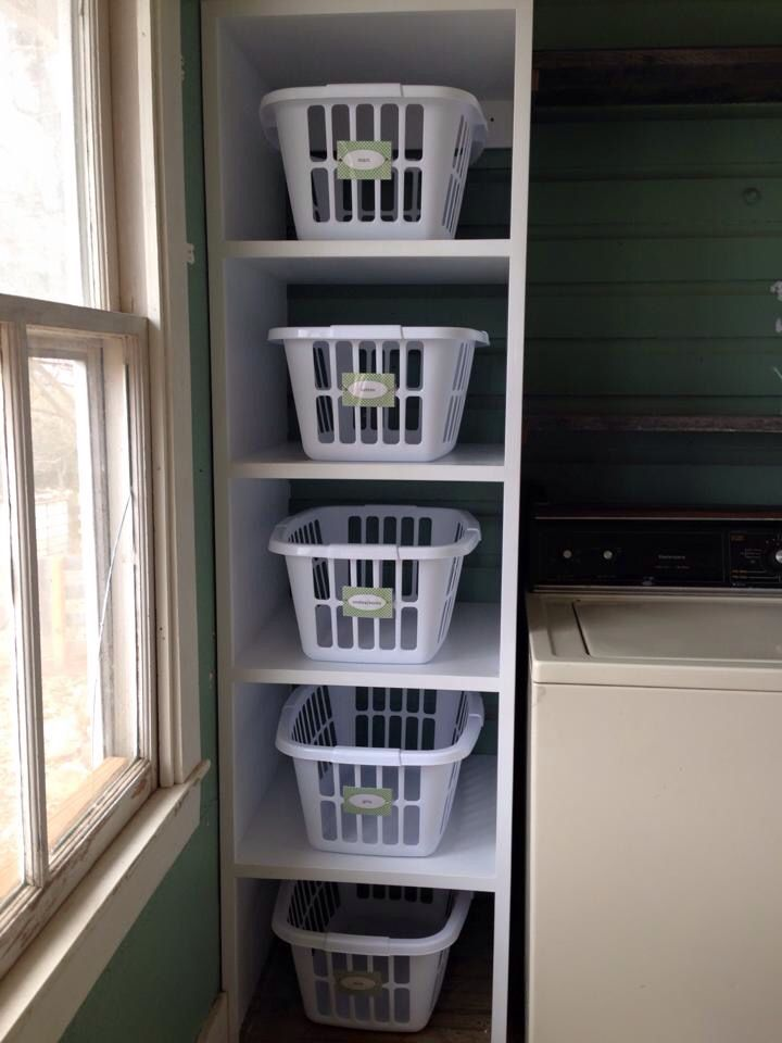 My very own laundry tower, built by my hubby!